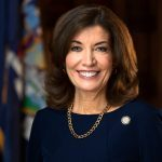 February 11, 2019 - Albany NY - Lt. Governor Kathy Hochul poses for a portrait and headshot in her office at the State Senate. (Mike Groll/Office of Governor Andrew M. Cuomo)